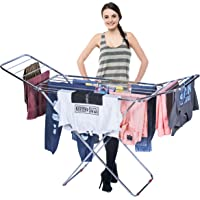 INDISWAN Stainless Steel Heavy Duty Foldable Cloth Drying Stand for Balcony (Butterfly Stand)