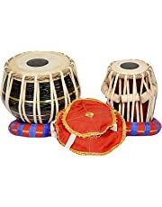 S.A Trading Company ABC101 Brass Tabla set (Black) with 2.30 kg brass bayan and 4 kg sheesham wood dayan comes with hammer and a free carry bag..
