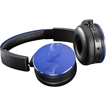 AKG Y50BT Cuffie Bluetooth Wireless Ricaricabili, Compatibili con Smartphone e Tablet iOS e Android, Blu