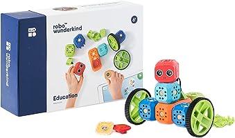 Robo Wunderkind – Set robotique modulable- Education Kit – 8 Blocs et 15 pièces – Jouet STEM programmable – 2...