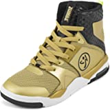 Chaussure de Danse Femme Zumba Fitness Zumba Air Classic Sportliche High Top Tanzschuhe Damen Fitness Workout Sneakers Orange 38.5 EU