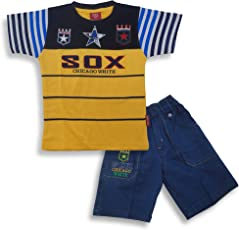 Kid's Care Printed Cotton T-Shirt and Half Pant Set for Boys…(FNK445_3-6 Months_)