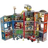 KidKraft 63239 Everyday Heroes lekset för barn med brandbil, polis, helikopter och figurer