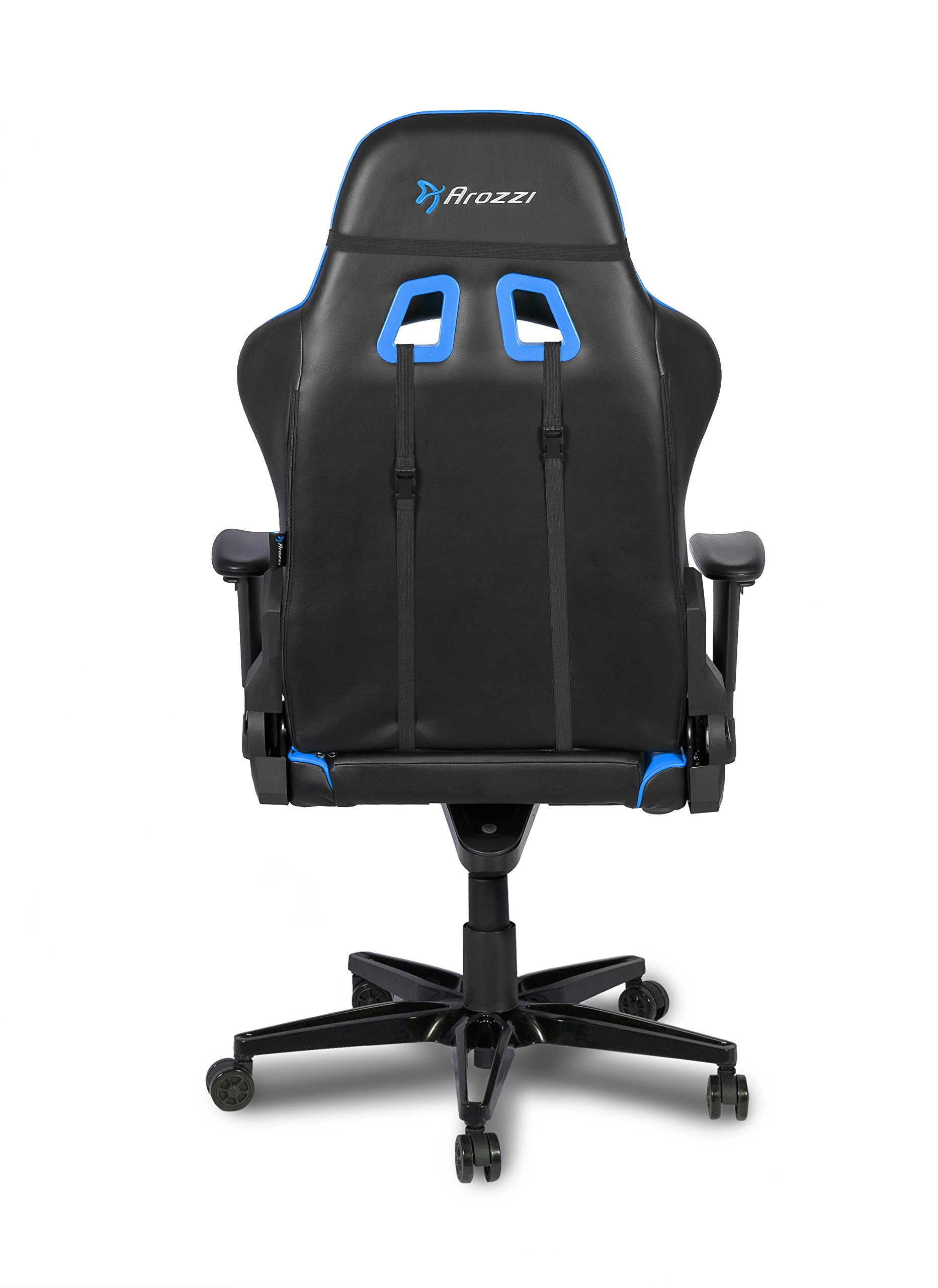 Arozzi Verona XL + Silla Gamer, Piel sintética, Azul, 58x 57x 138cm