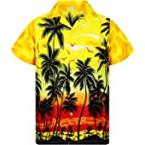 Original King Kameha | Funky Camisa Hawaiana | Señores | XS - 6XL | Manga Corta | Bolsillo Delantero | Impresión de Hawaii |