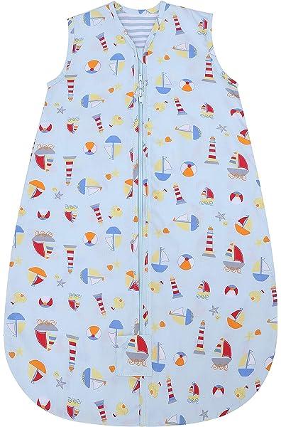 Baby Sleeping Bag Bedding 0.5 Tog 1 Tog Ideal for Summer or Hot Holidays Cream Circles 1 Tog, 12-36 Months