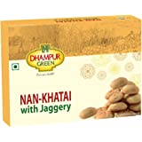 Dhampure Speciality Gur Nan Khatai Cookies, Traditional Indian Sweet Handmade Nankhatai Biscuits, 300g