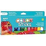 Apli Kids 14228  - Pack de 12 Tubes de Gouache Solide - Couleurs Assorties - 10g