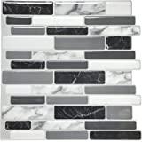 Art3d 10-vel Peel and Stick Tiles Zelfklevende Tegels Backsplash Voor Keuken, Vinyl Decoratieve Wandpaneel Marmer Stijl, 30 x