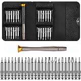 DAZAKA Juego de Destornilladores Mini Precisión 25 en 1 Herramientas Desmontar Kit de Reparación para Smartphone, PC, Cámara,