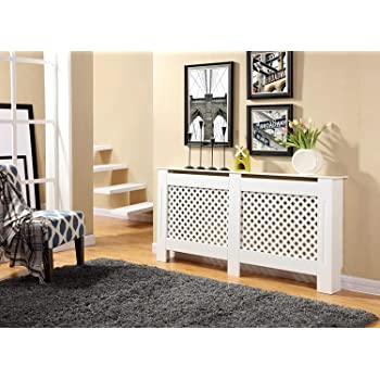 Laura James Radiator Cover Cabinet White Painted Large ...