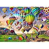 HUADADA Puzzle 1000 Pièces, Puzzles de Ballon à Air Chaud Puzzle Adulte Puzzle Enfant (70x50cm)