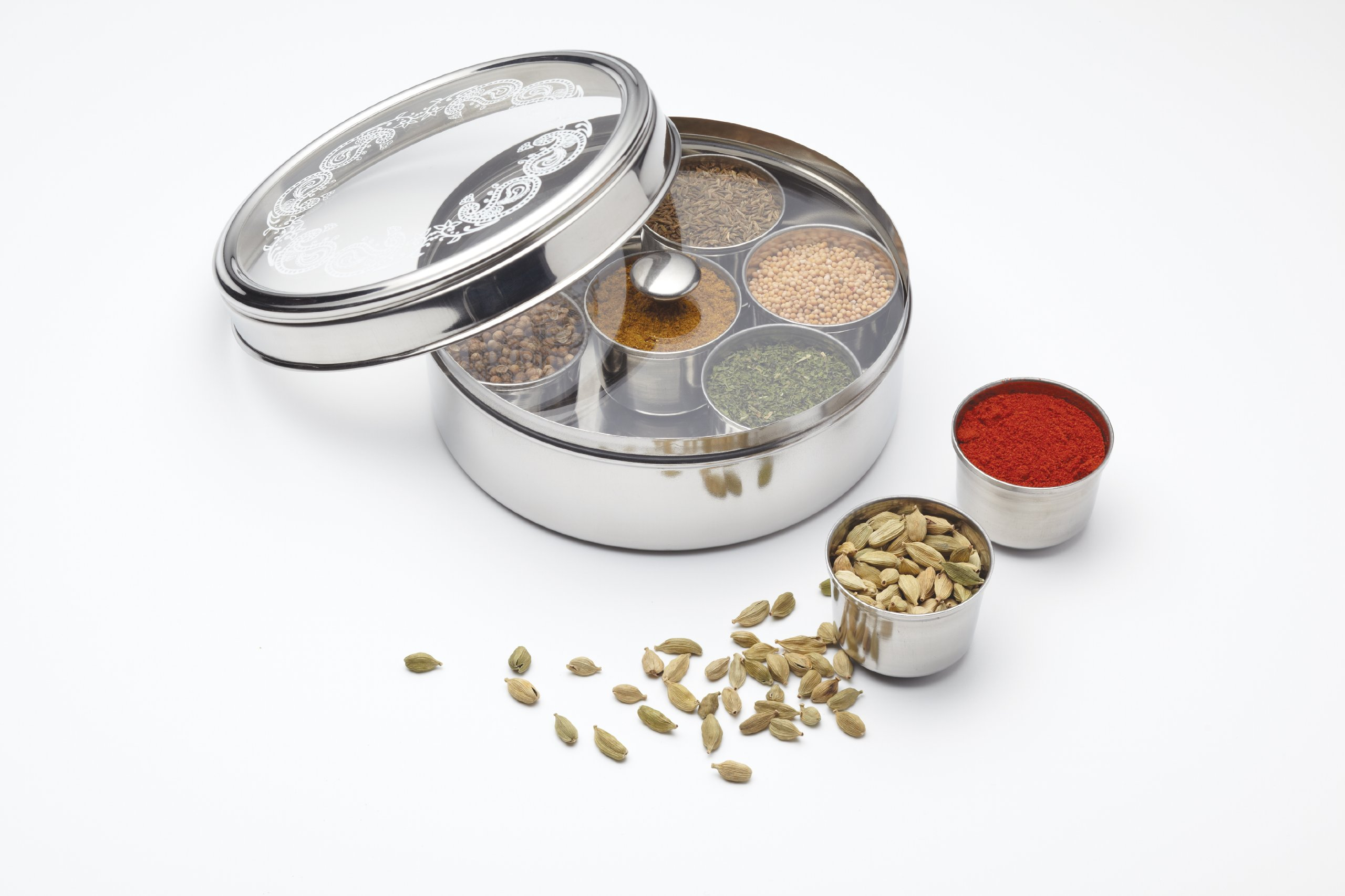 Kitchen Craft World of Flavours Indian Stainless Steel Masala Dabba 2
