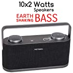 NETGEN Bluetooth Speaker with 20W NFC Earth-Shaking Powerful Sound with Rich Bass 360-Degree Surround Sound Effect...