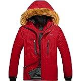 Wantdo Chaqueta de Esquí de Montaña para Hombre Abrigo de Lana Cálido Chaqueta de Snowboard Impermeable Cortavientos al Aire