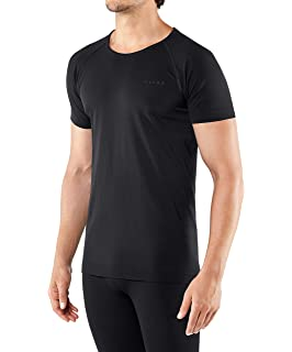 running: thermal Multiple Colours Sizes S-XXL FALKE Mens Warm Comfort Fit Short Sleeve Base Layer Top breathable quick dry 1 Piece For hiking Sports Performance Fabric trekking