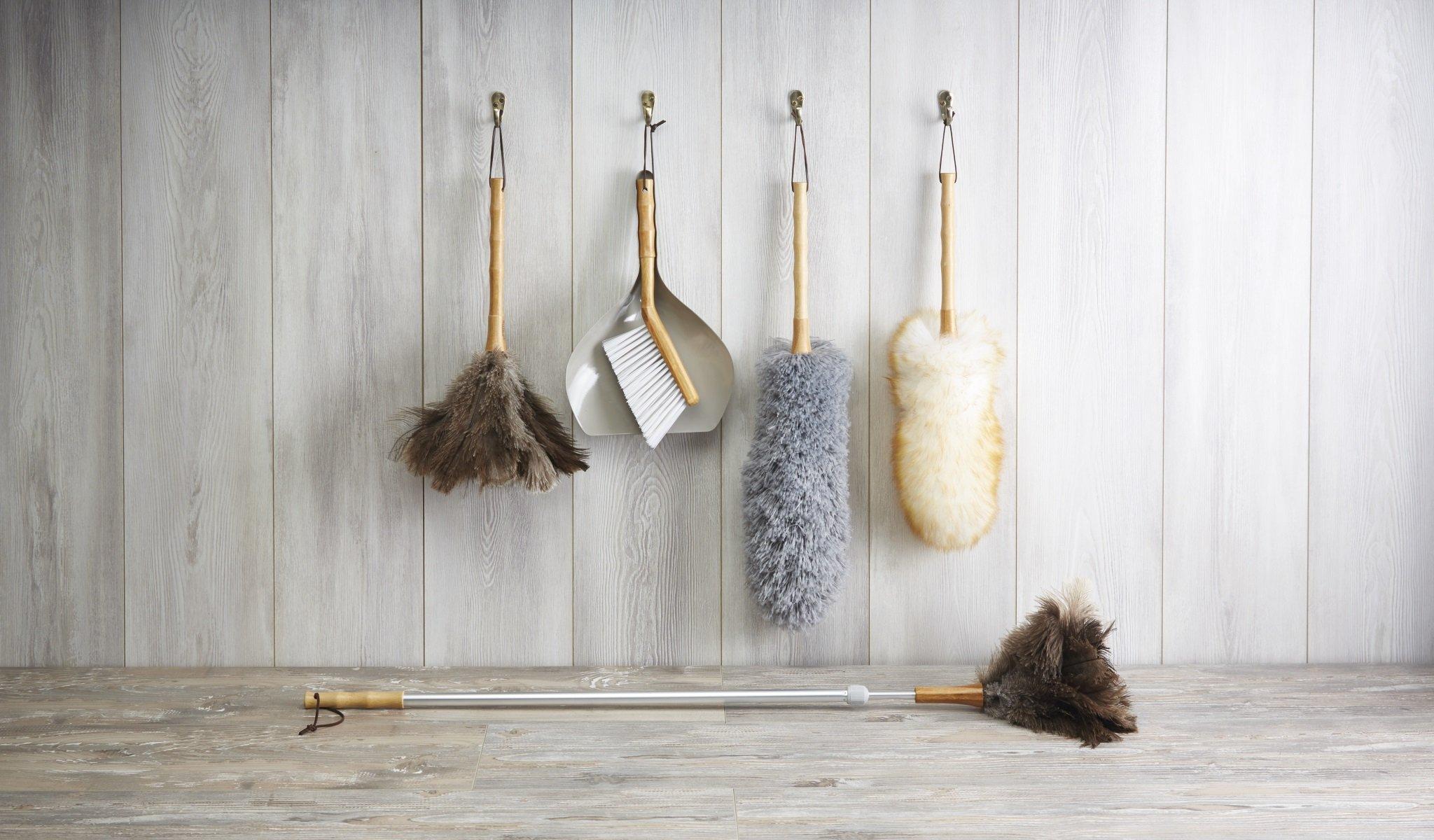 48/cm Kitchencraft Living Nostalgia Tradizionale Naturale Lambswool Duster Marrone 48,3/cm