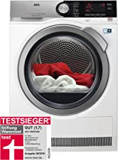 AEG T9DE87685 Wärmepumpentrockner / 8kg / Energieeffizienzklasse  A+++ / 176 kWh pro Jahr / schonend getrocknete und knitterarme Wäsche mit FiberPro-System / SensiDry-Technologie / weiß