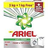 Ariel Anti-Germ Matic Detergent Washing Powder 3 KG + 1 KG Free