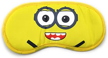 24x7 eMall Minions Eye Shade Cartoon Patch Blinder Black-out Snooze Slumber Hibernate Blindfold Eyes Cover for Proper Sleep (Yellow) - Pack of 1