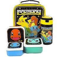 Pokemon-Lunch-Tasche 5 Stück (Lebensmitteltasche Wasserflasche 3 Snacktöpfe) Einheitsgröße