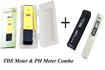 "PSI Ph & Tds Meter Combo with ±0.1Ph 0.6"" Lcd Mini Digital Pen Style Ph-Meter Set (Hhi-9887, Assorted Colour)"