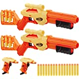 NERF Alpha Strike Lynx SD-1 and Stinger SD-1 Multi-Pack, 4 Blasters and 26 Darts, For Kids, Teens, Adults