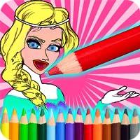 Paint Princesses Coloring
