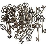 30 pendentifs pendentifs fantaisie avec coeur, fantaisie, clés de squelette