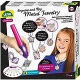 Lena 42655 Engraver's Jewelry Studio, Schmuckstudio, Gravurstudio für Kinder ab 9 Jahre, Set mit batteriebetriebenen Graviere