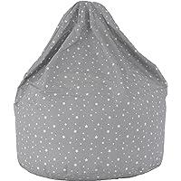 Cotton Grey Stars Bean Bag Child Size
