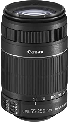 Canon EF S 55 250mm f/4 5.6 is II Telephoto Zoom Lens for DSLR Camera  Black
