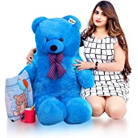 ATIF Soft Toys Long Soft Lovable hugable Cute Giant Life Size Teddy Bear /and Wife/BOY Girl/ Gift (Sky Blue, 3 FEET ( 90…