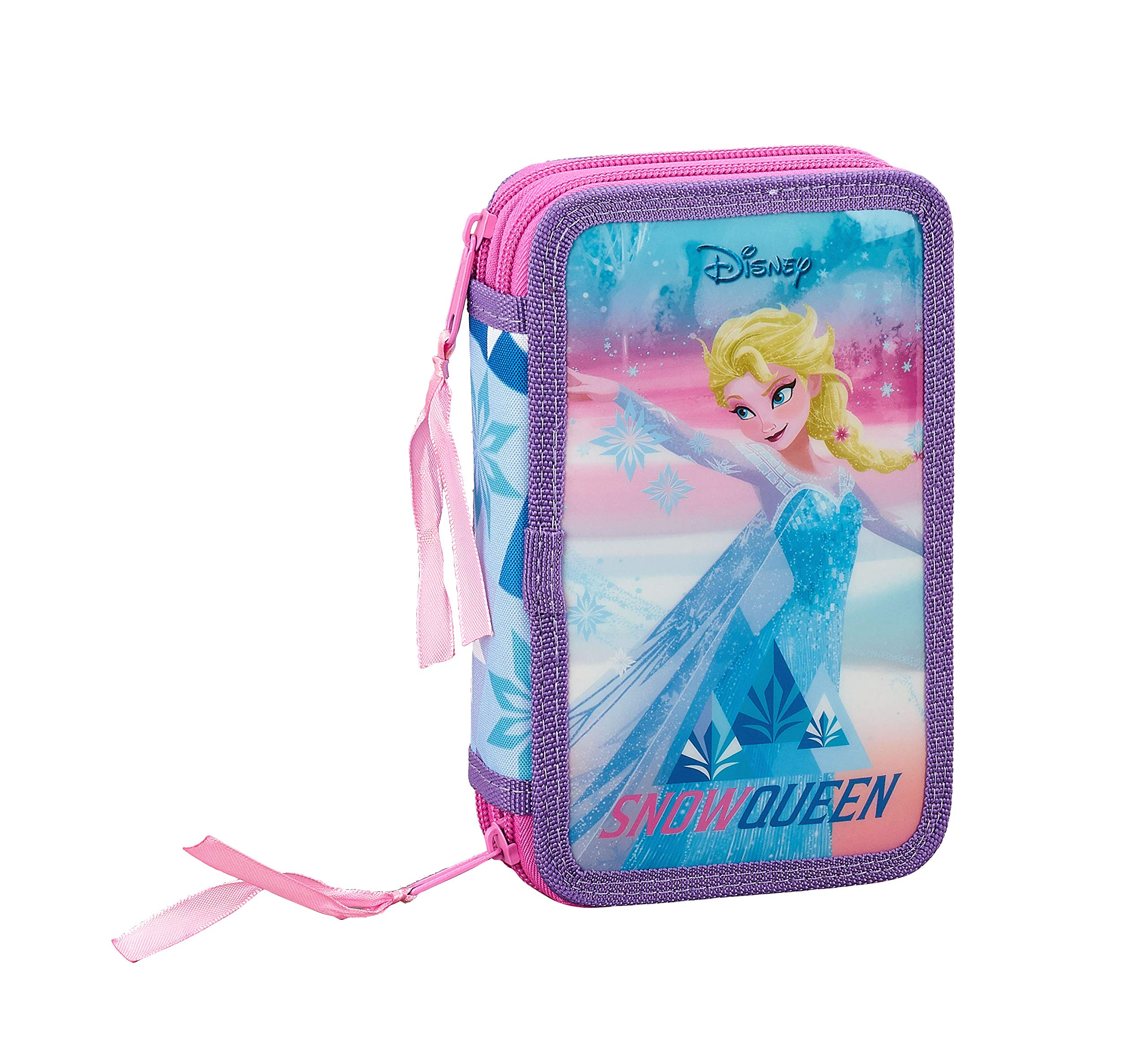 Frozen «Ice Magic» Oficial Estuche Escolar Incluye 28 Útiles, 125x40x195 mm