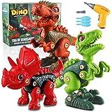 aovowog Dinosaurios Juguetes para Niños con Taladro Eléctrico,Bricolaje 3D Dinosaurios Construcción Juguetes Dducativos Regal