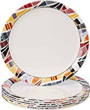 Amazon Brand - Solimo Melamine Dinner Plate Set (11 inches, 6 pieces)