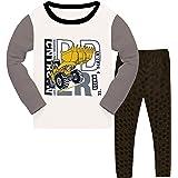 Pijamas de niño, Juego de Dos Piezas, Pijamas de casa, Traje de Noche, Ropa de Manga Larga, algodón, 98-152/3-12 años.