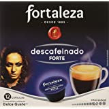 Café FORTALEZA - Cápsulas de Café Descafeinado Forte Compatibles con Dolce Gusto - Pack 3 x 10 - Total 30 cápsulas