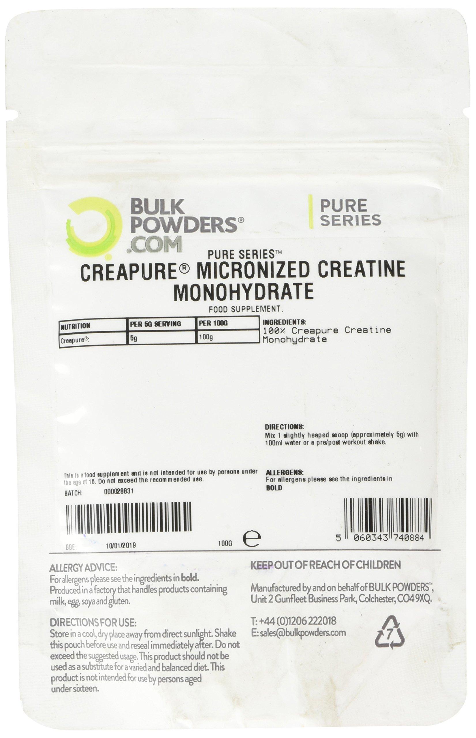 81Gxoh7r9oL - Bulk Creapure Creatine Monohydrate Powder, 100 g, Packaging May Vary