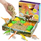 Magicfun Arena Mágica, 500g Arena cinética, Play Sand Figuras de Dinosaurio Juguete, Soft Slime Never Dry Molding Juguetes de