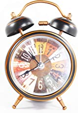 Twin Bell Colorful Table Alarm Clock with Display Light