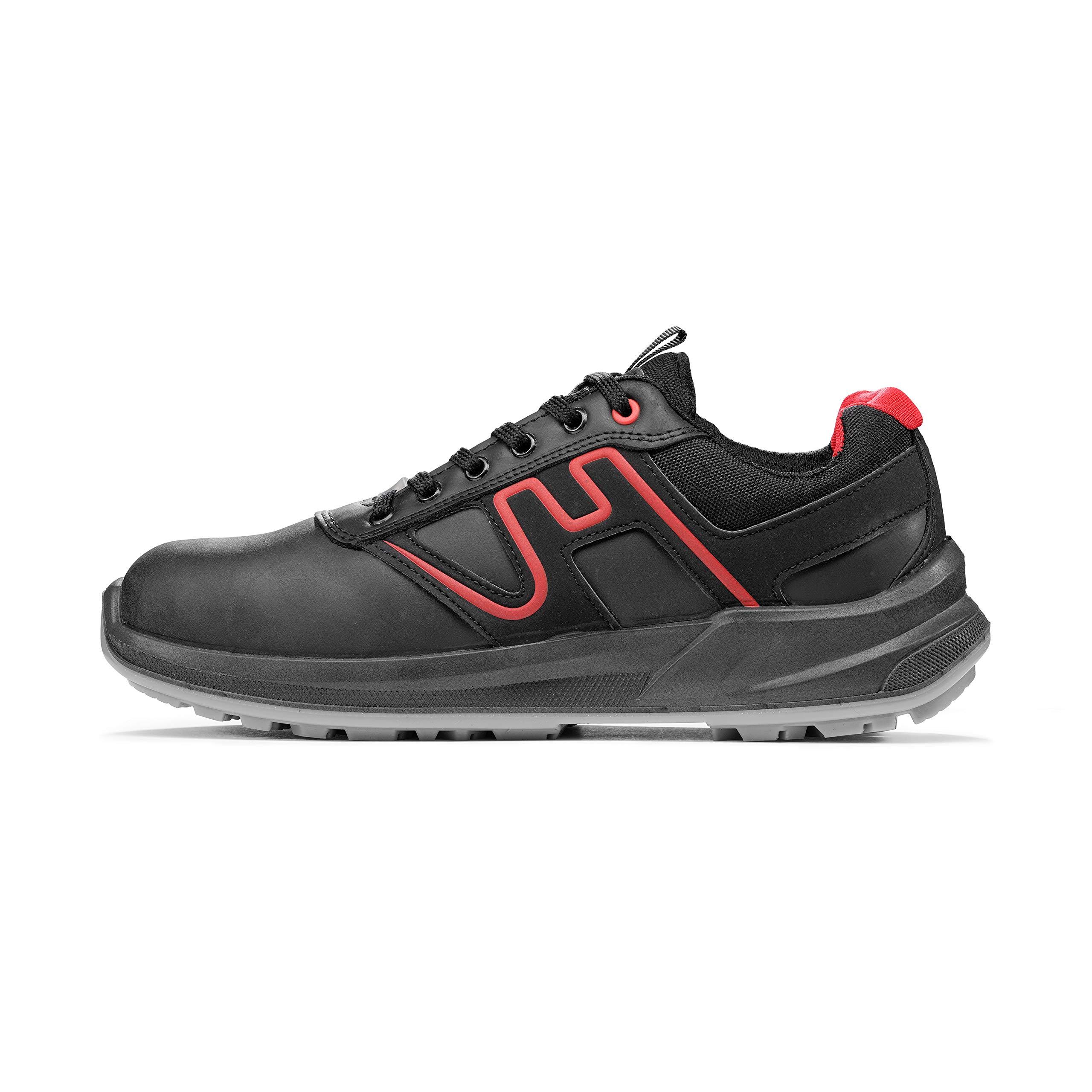 METALLIC S3 SRC ESD, schwarz, rot, 37