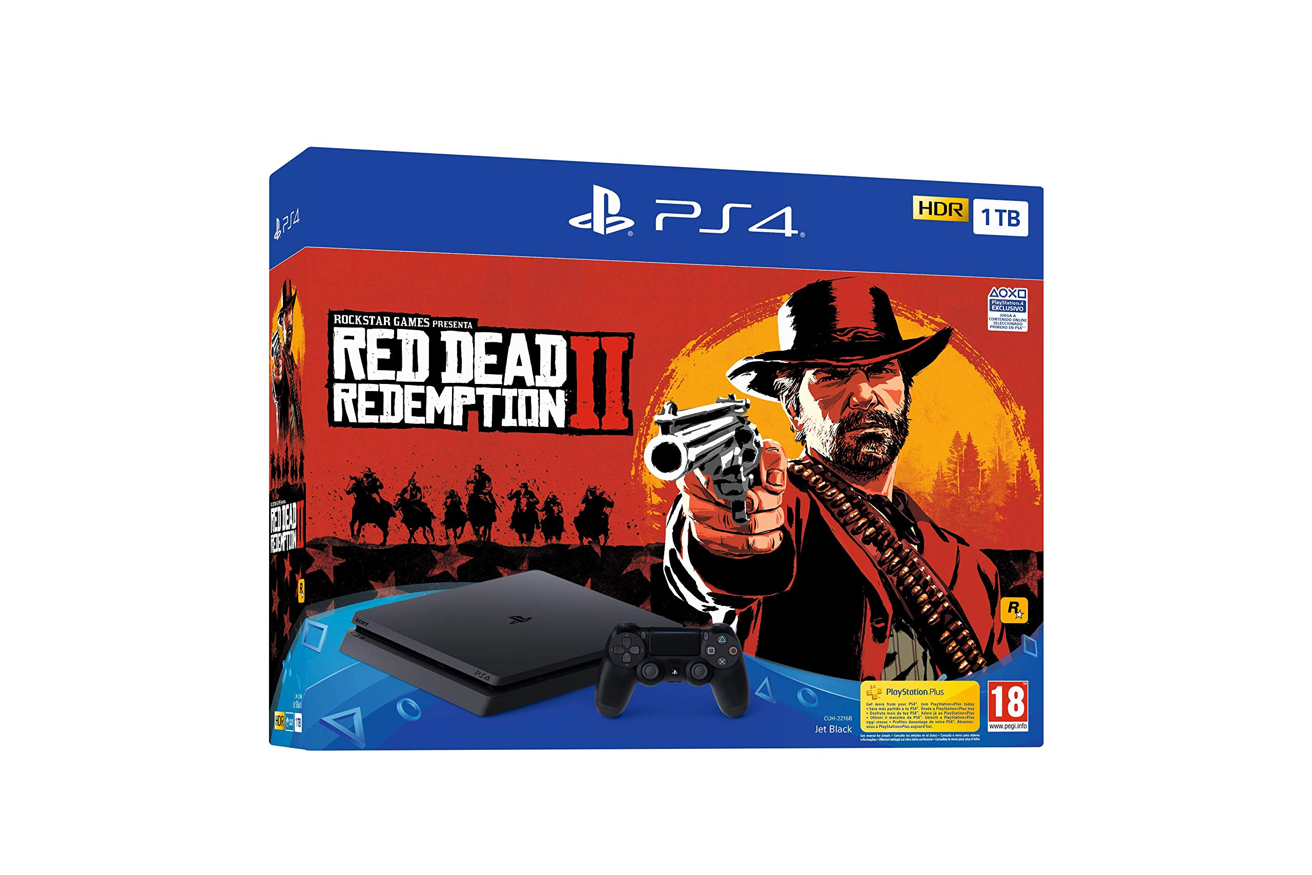 PlayStation-4-PS4-Consola-de-1-TB-Red-Dead-Redemption-II