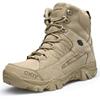 AONEGOLD Hommes Bottes de Randonnée Tactiques Militaires de Combat Bottes Chaussures de Trekking extérieures Respirantes…