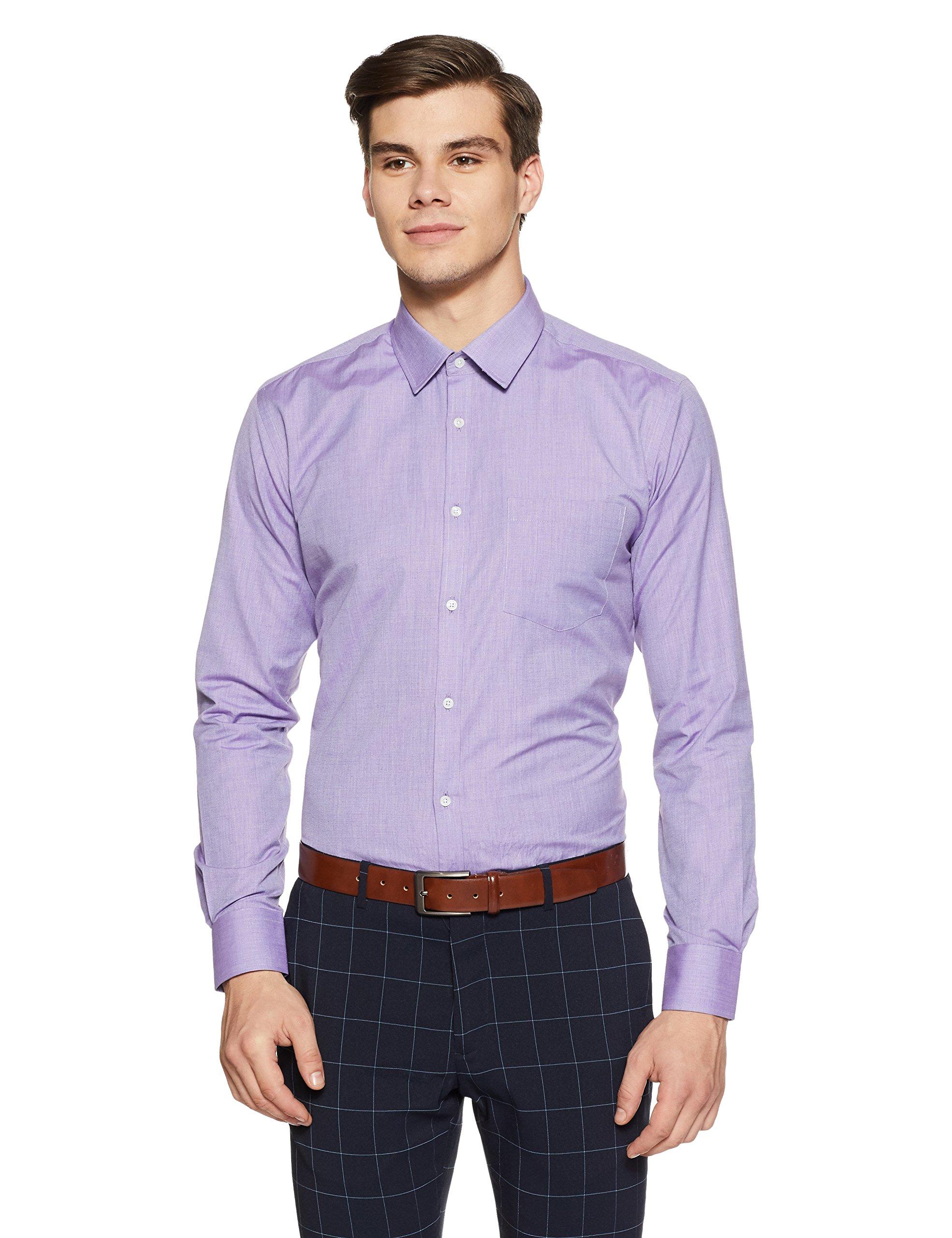 fefc17e8 Park Avenue Men's Solid Slim Fit Formal Shirt - Orawish