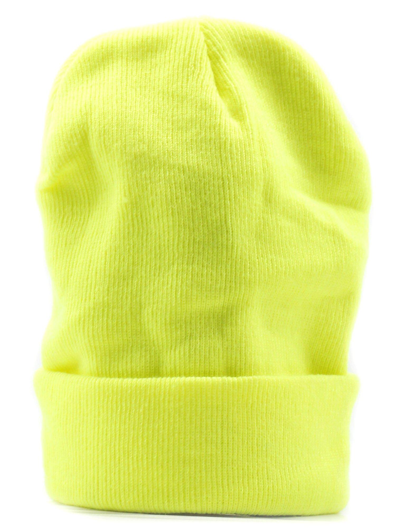 Wasserfarm - Cuffia in lana da snowboard 56/1, colore fluo