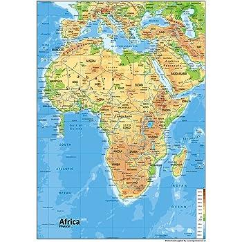 Physische Karte Usa.Nordamerika Physische Karte Papier Laminiert A0 Grosse