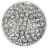 styleBREAKER Ornamento Magnetico Rotondo con Pietre Strass per Sciarpe, Scialli o Poncho, Spilla, da Donna 05050039