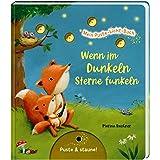 Mein Puste-Licht-Buch: Wenn im Dunkeln Sterne funkeln: Gute-Nacht-Buch mit Puste-Licht und LED-Lämpchen, Mitmachbuch für Kind