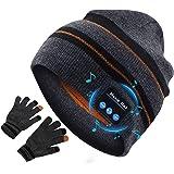 puersit Cappello Bluetooth,Wireless Cuffie Incassato Altoparlanti Stereo HD,Bluetooth Beanie per Parlare a Mani Libere Ascolt